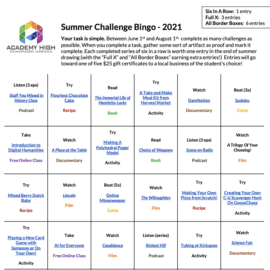 2021 Summer Challenge for Current and Incoming Students